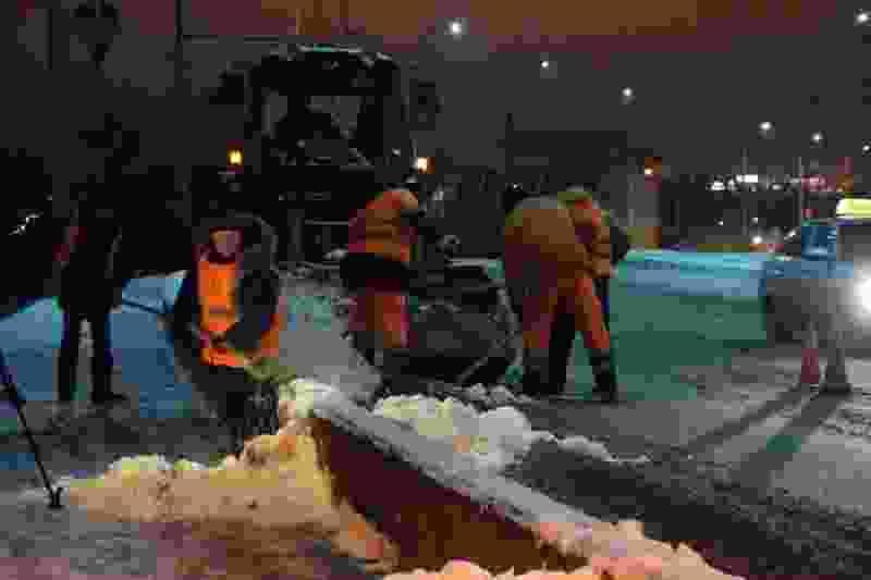 За последние 24 часа с улиц Тамбова вывезли 655 кубометров снега