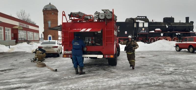 """На железнодорожной станции """"Мучкап"""" прошли пожарно-тактические учения"""