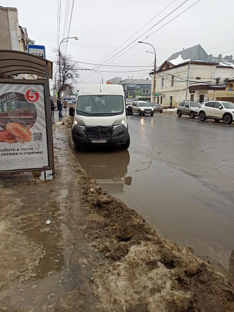 В Тамбове ликвидируют места скопления талой воды вблизи остановок