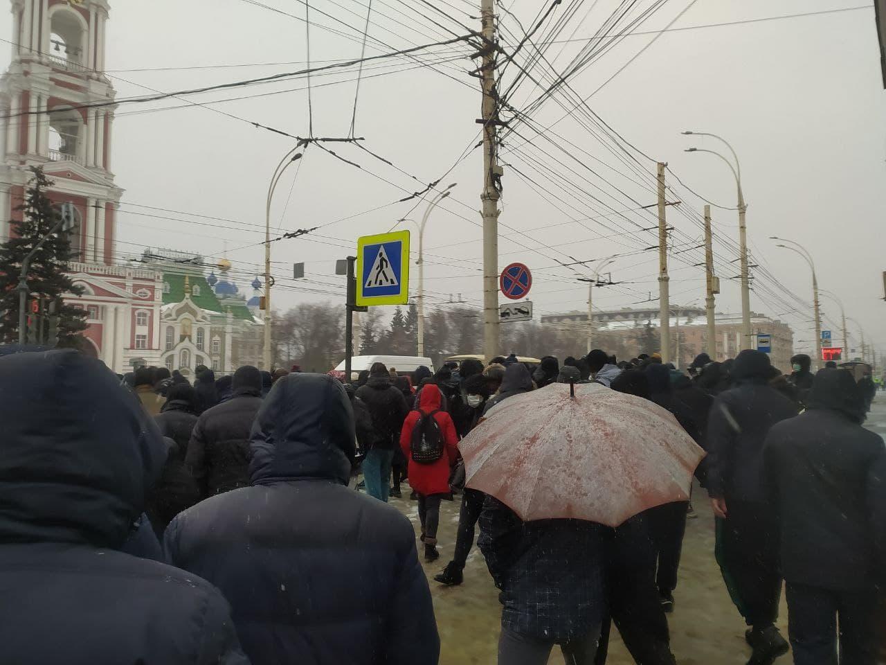 В Тамбове прошла вторая за месяц несанкционированная акция в поддержку Алексея Навального