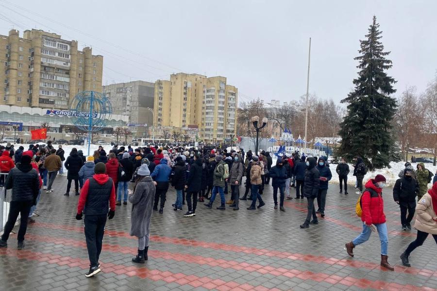 В Тамбове прошёл митинг в поддержку Алексея Навального