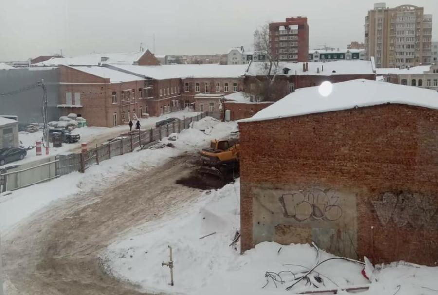 В Тамбове рядом с объектом культурного наследия началось капитальное строительство