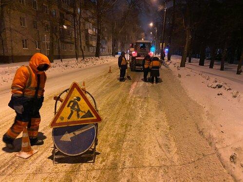 Почти 1,5 тысячи кубометров снега вывезли из Тамбова за одну ночь