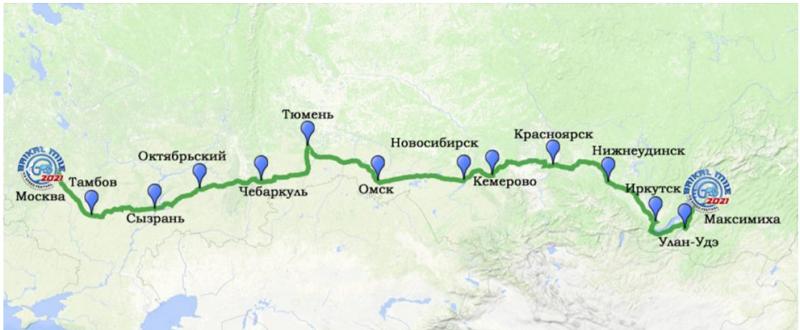 """Тамбов в рамках Гран-Тура """"Байкальская миля"""" посетил известный мотоблогер"""
