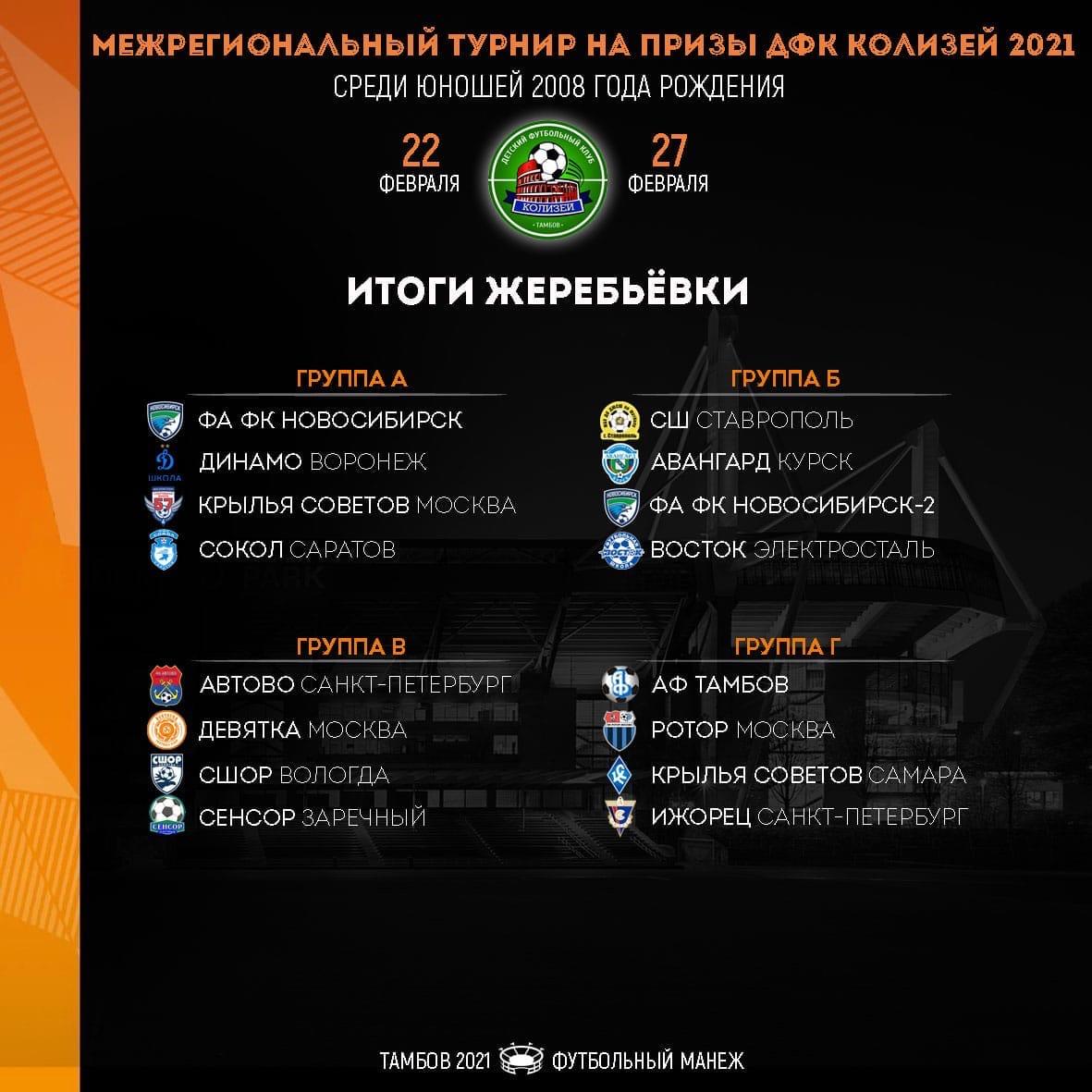 В Тамбове сыграют 16 футбольных команд со всей России