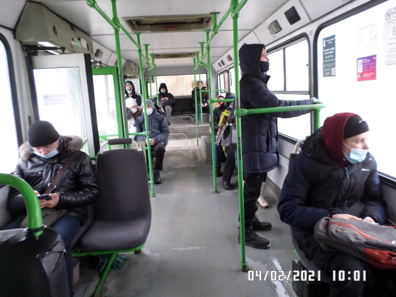 В Тамбове выявили нарушения масочного режима в общественном транспорте