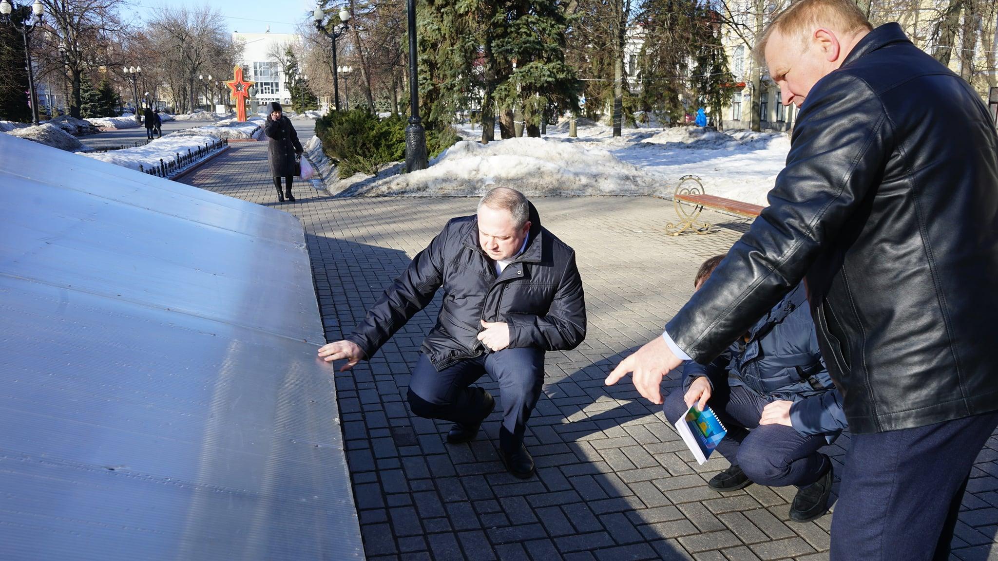 Исполняющий обязанности главы Тамбова провёл обход парков и скверов