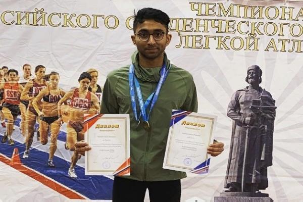 Студент ТГУ одержал победу на всероссийском турнире по лёгкой атлетике