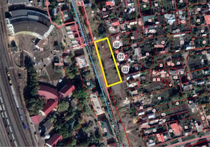 Территорию на Железнодорожной предложено устроить в виде четырёх ромбов