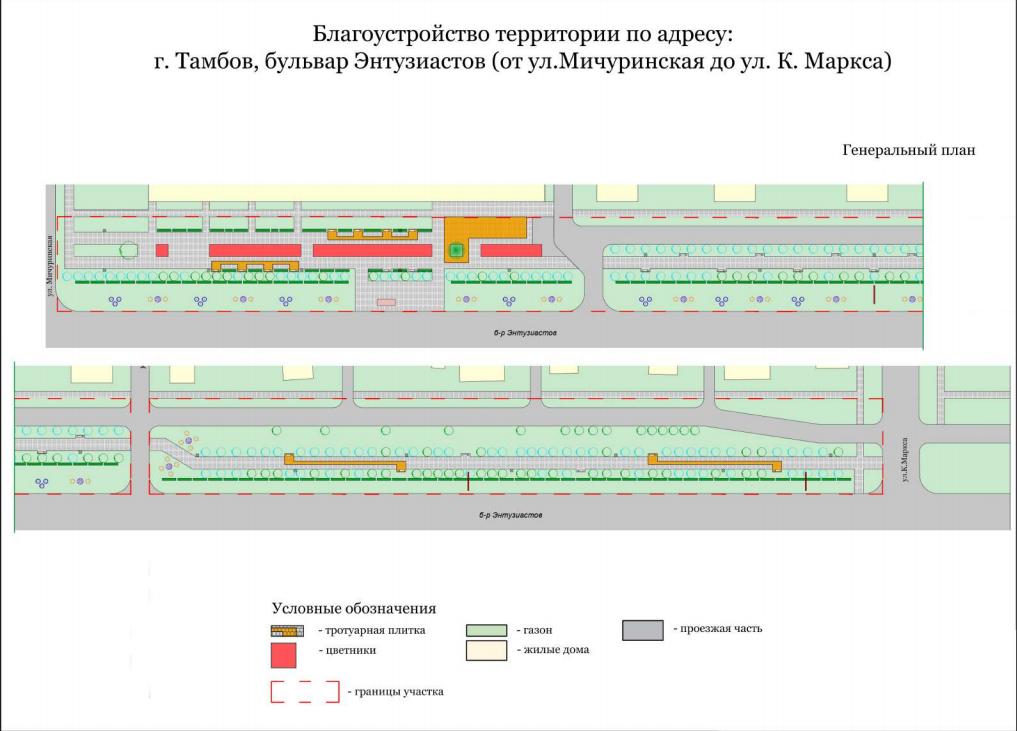 Территорию в границах улиц Мичуринской и Карла Маркса предложено озеленить