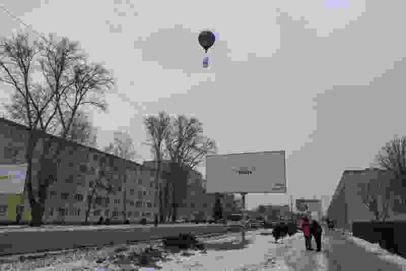 В честь «Крымской весны» в небо над Тамбовом поднялся воздушный шар