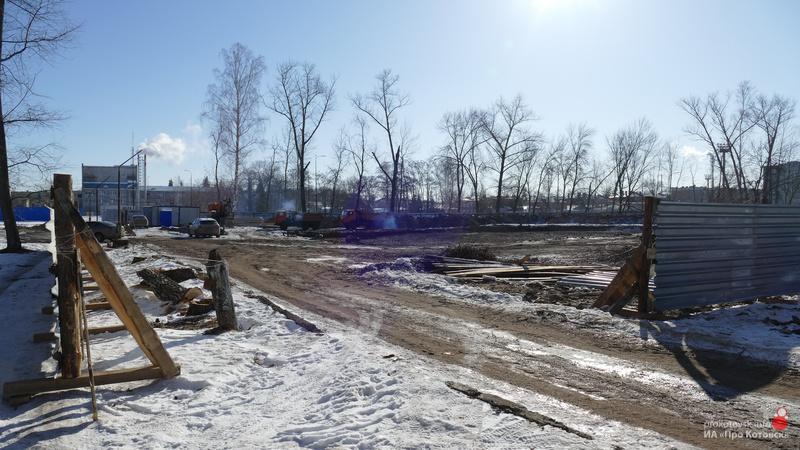 В Котовске ведутся работы по строительству основания городского бассейна