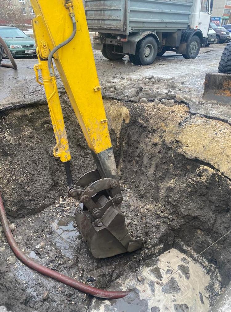 В Тамбове произошла новая авария на трубопроводе холодного водоснабжения