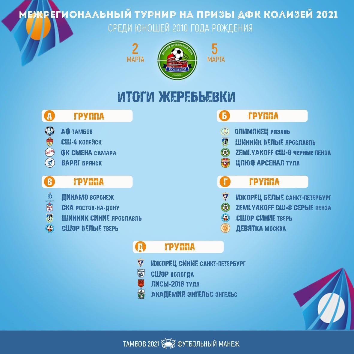 В Тамбове пройдёт турнир среди 10-летних футболистов