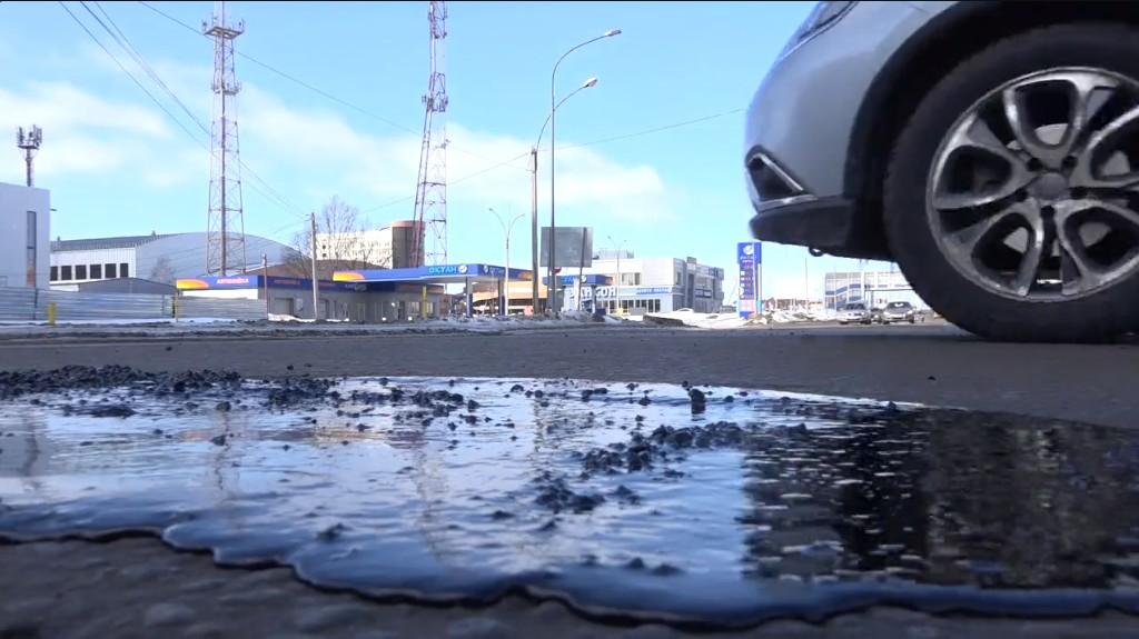 В Тамбове устраняют дефекты асфальтобетонного покрытия