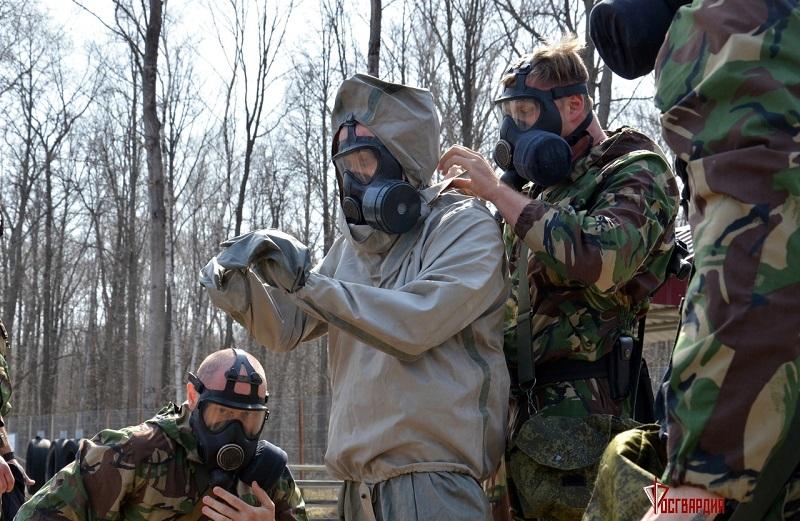 На полигоне Котовска прошли соревнования среди бойцов ОМОН