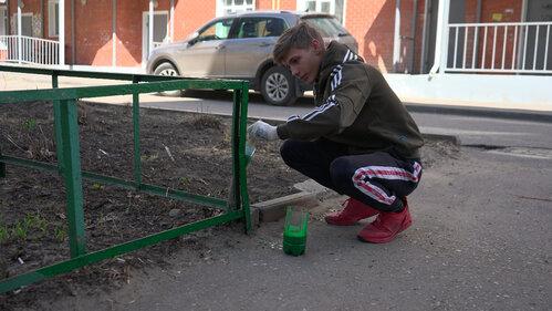 В Тамбове добровольцы помогают пенсионерам благоустраивать придомовые территории