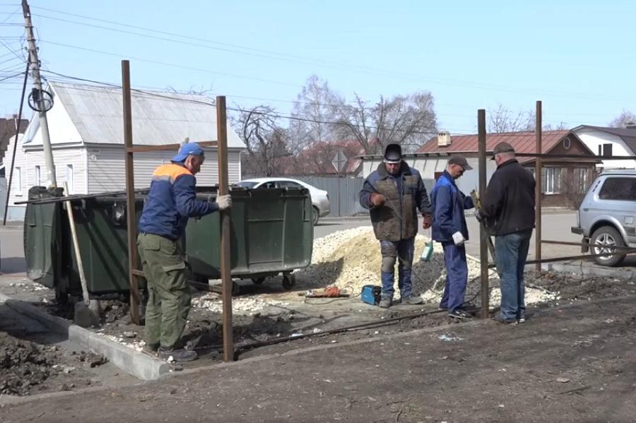 В Тамбове приступили к обустройству контейнерных площадок для сбора мусора
