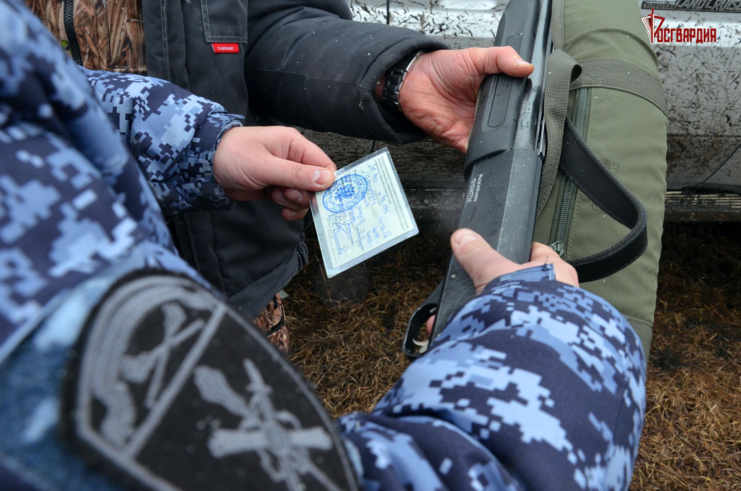 В Тамбовской области сотрудники Росгвардии проверили любителей охоты