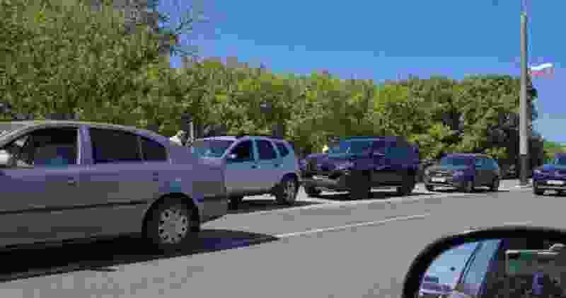 Из-за аварии на Рассказовском шоссе образовалась километровая пробка