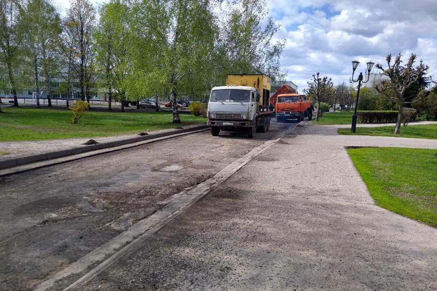 На магистралях и путепроводах Тамбова проводится уборка