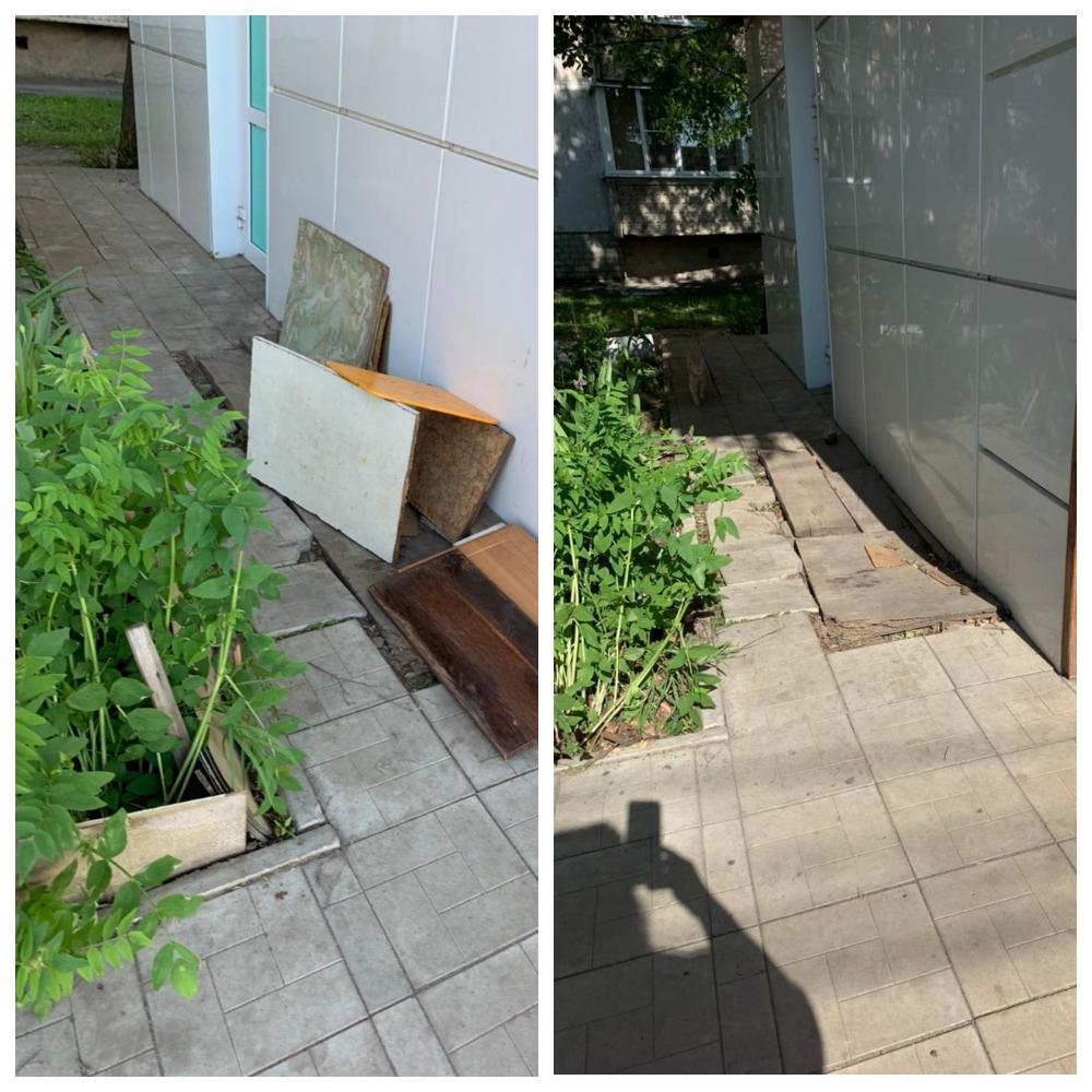 На улице Базарной ликвидировали два несанкционированных ларька