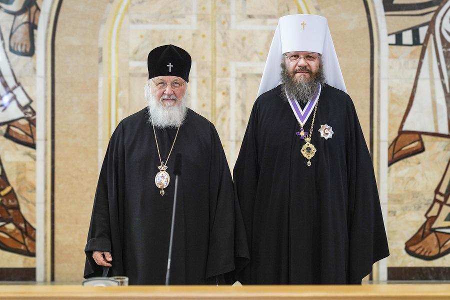 Патриарх Московский и всея Руси Кирилл наградил митрополита Феодосия