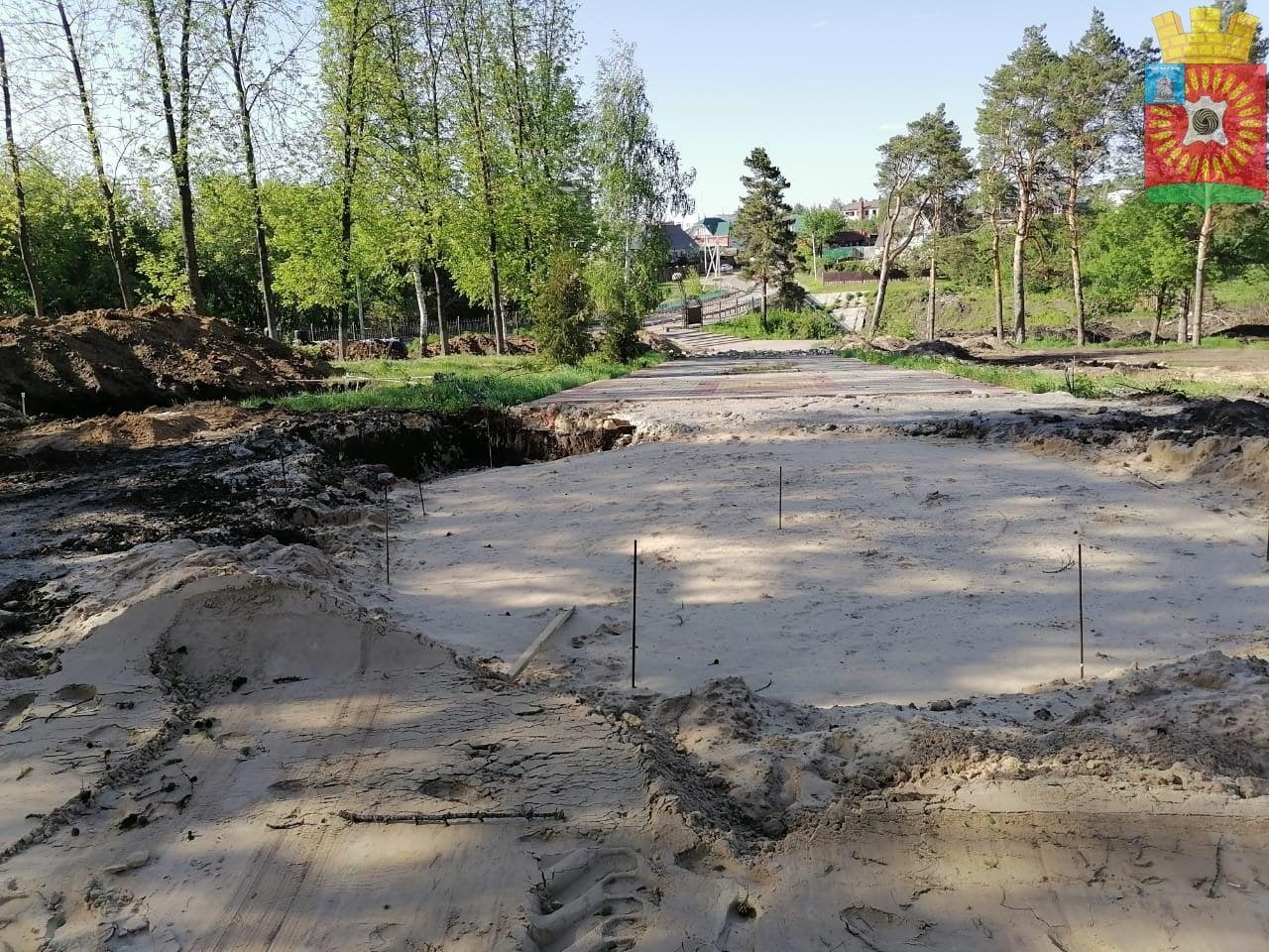 В Городском парке Рассказово началось строительство культурно-досугового центра