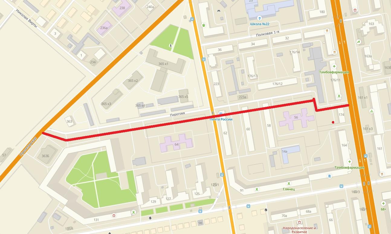 В Тамбове в этом году отремонтируют улицу Пирогова