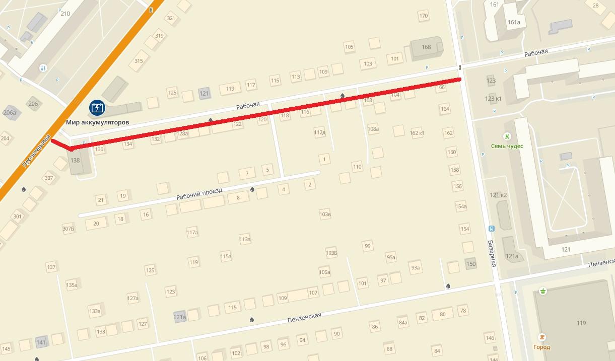В Тамбове в этом году отремонтируют улицу Рабочую