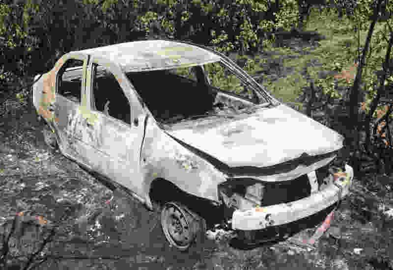 В Тамбовской области иномарка улетела в кювет и загорелась