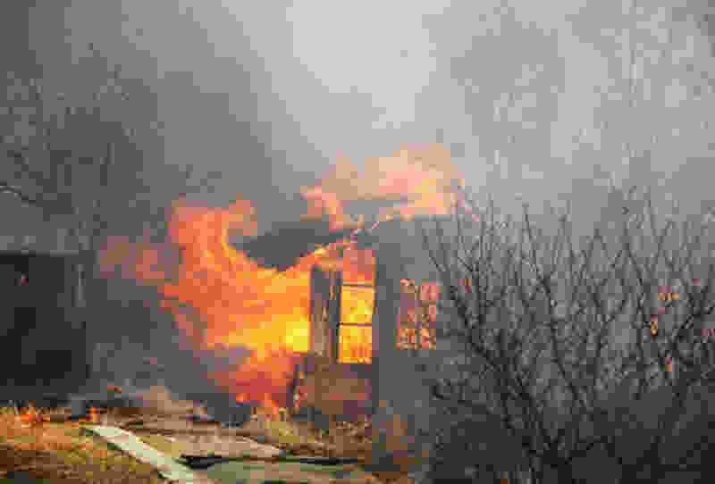 В тамбовском садоводческом товариществе в пожаре погиб мужчина