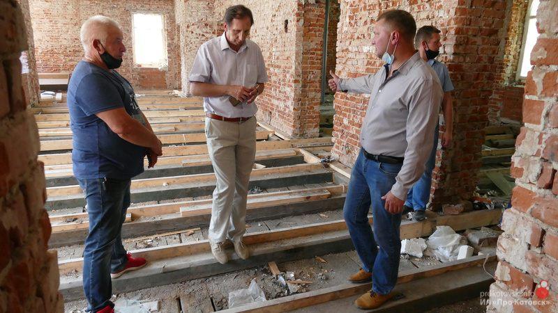 В Котовске провели рабочее совещание по капитальному ремонту детской школы искусств
