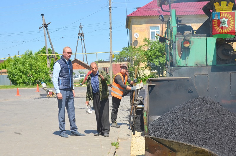 В Рассказово завершается асфальтирование Тимирязовского переулка