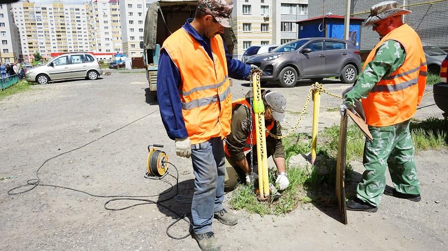 В Тамбове на улице Победы демонтировали ограждения вокруг незаконной стоянки