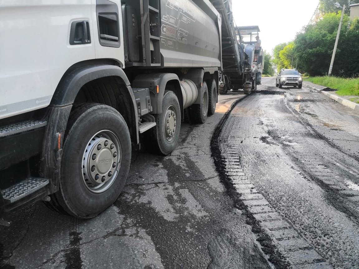 В Тамбове ремонт дорог идёт полным ходом