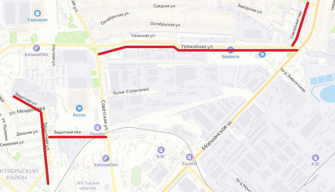 В Тамбове в этом году отремонтируют улицы Защитную и Урожайную