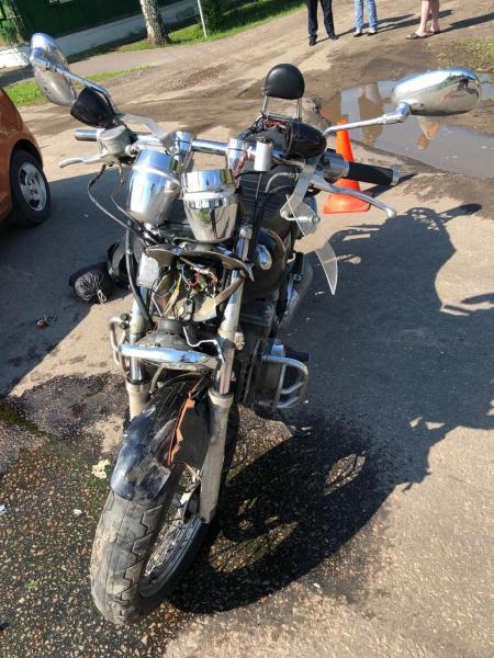 В Тамбове женщина на иномарке сбила мотоциклиста