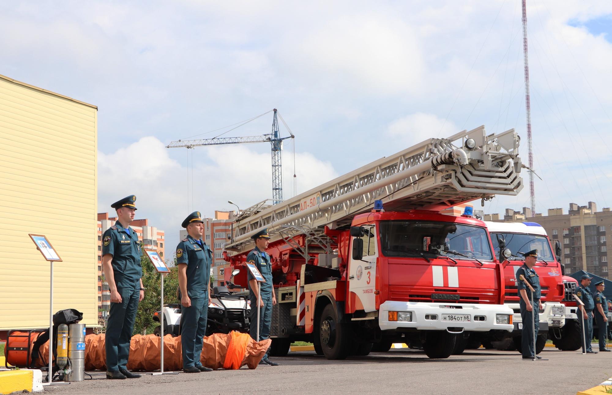 В Тамбовской области определили лучшего пожарного