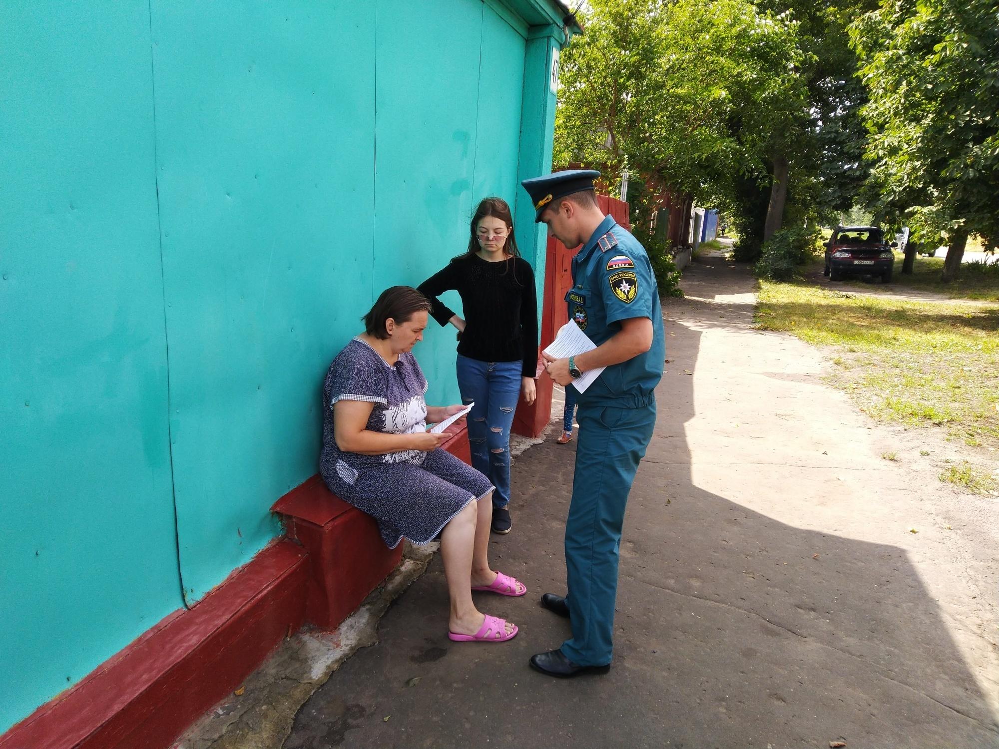 В Тамбовской области проходят рейды МЧС по пожарной безопасности