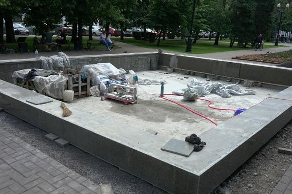 Обновлённые фонтаны запустят в Тамбове в начале августа