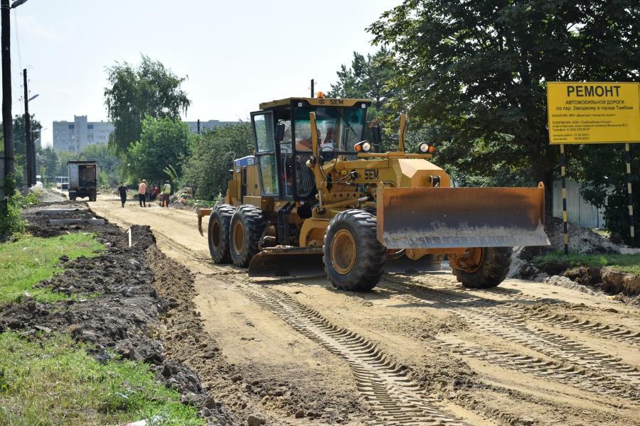 Одну из периферийных дорог в Тамбове отремонтируют до октября