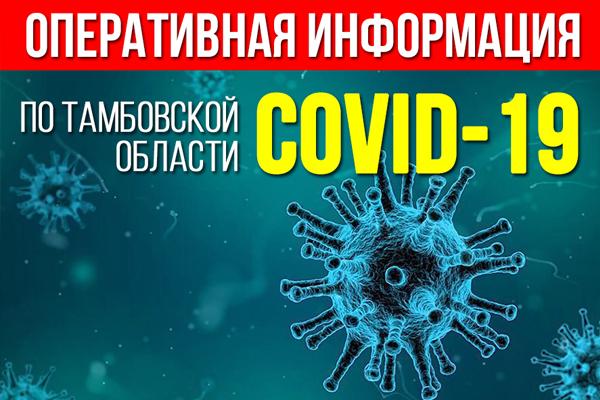 Суточное количество заболевших коронавирусом в Тамбовской области продолжает снижаться