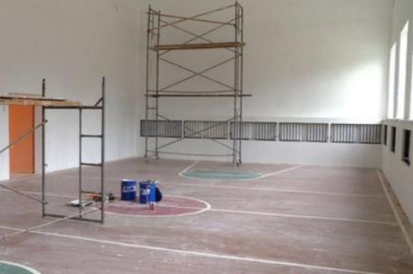 В гавриловской школе идёт капитальный ремонт спортзала