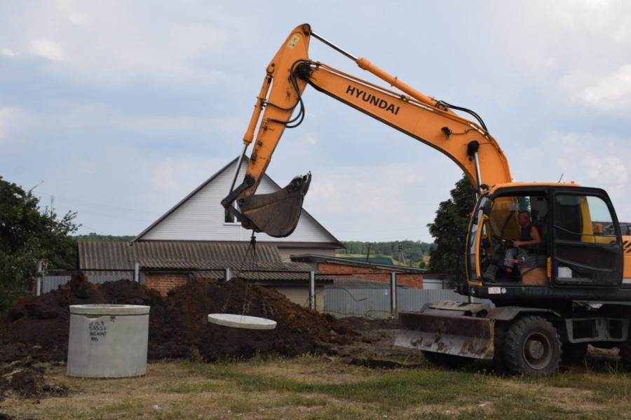 В Инжавино строят центральную канализацию