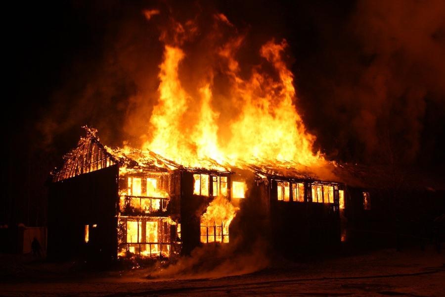 В Мичуринске при пожаре погиб мужчина
