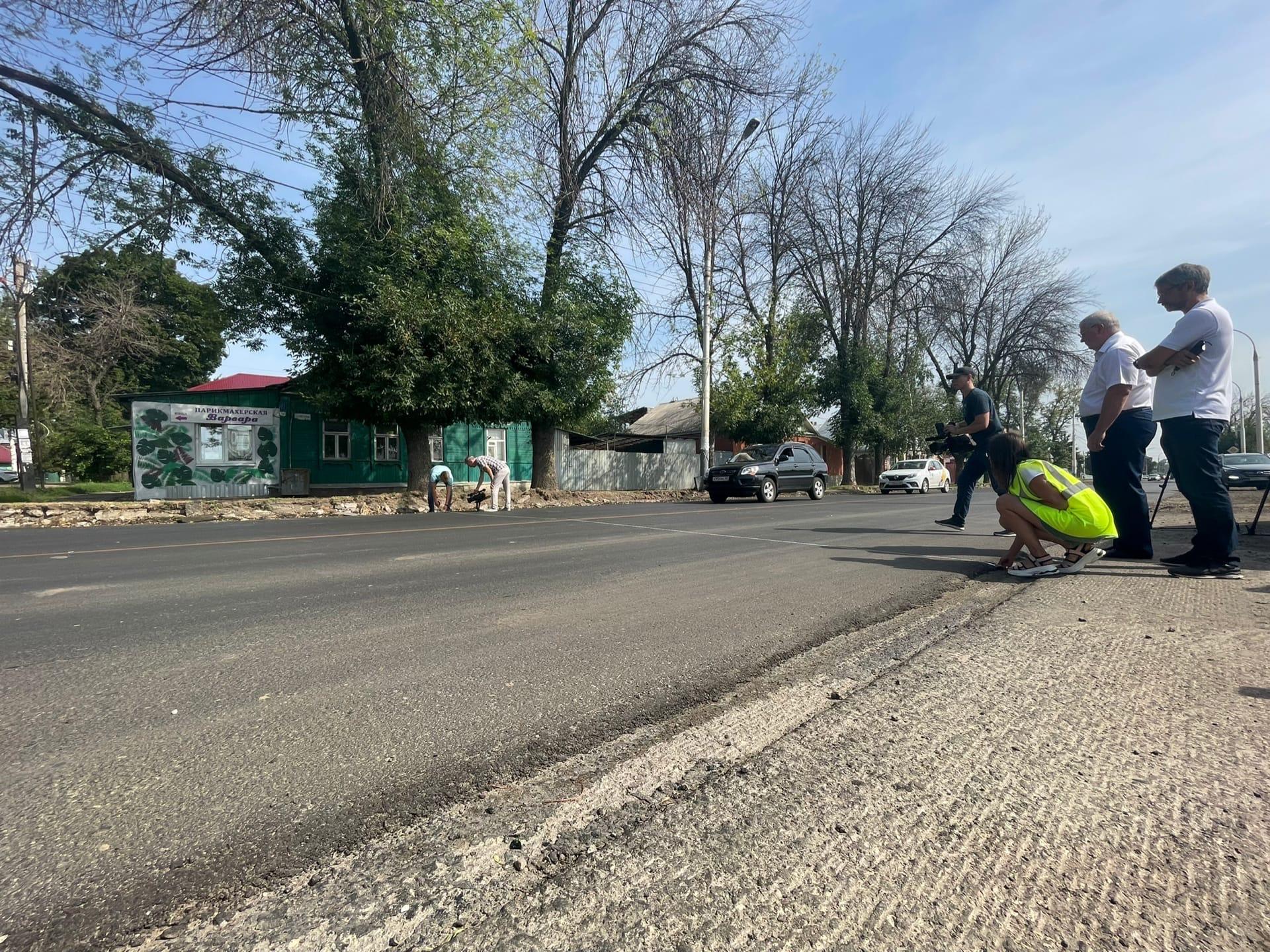 В Тамбове дорожные работы на Гастелло планируют завершить до октября
