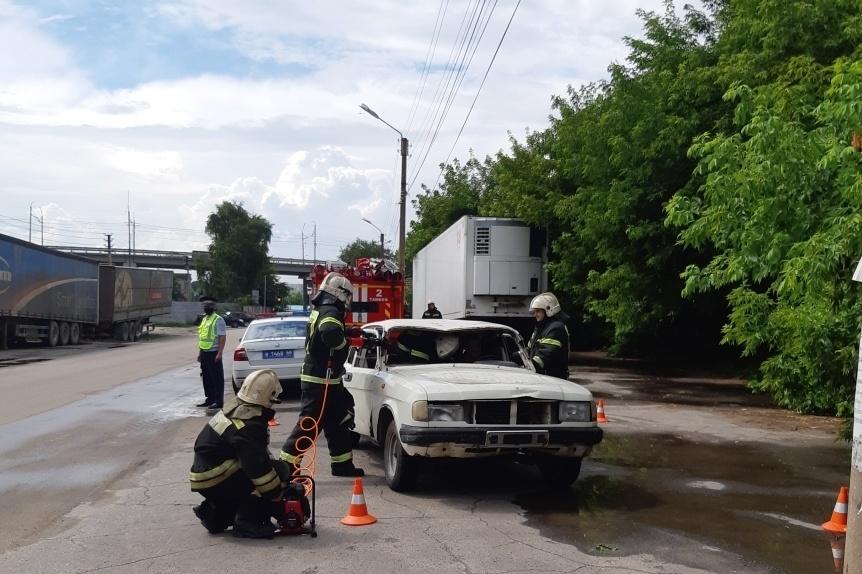 В Тамбове прошли учения по ликвидации последствий ДТП
