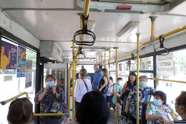 В Тамбове проверили соблюдение масочного режима в общественном транспорте