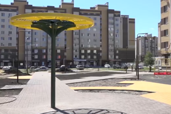 """Возле детского сада """"Подсолнух"""" продолжается строительство сквера"""